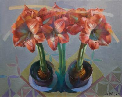 floral oil painting by Cathy Locke