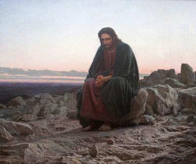"Ivan Kramskoy, ""Christ in the Wilderness,"" 1872. oil on canvas, Tretyakov Gallery, Moscow"