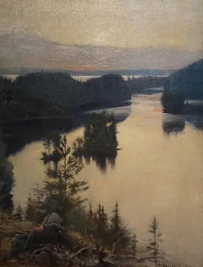 Albert Edelfelt, Kaukola Ridge at Sunset (1889-1890) oil on canvas, purchase 1976