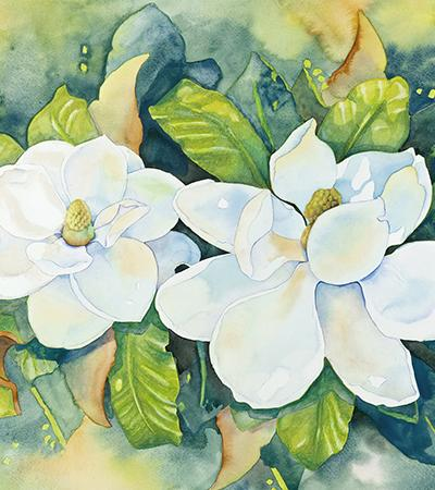 floral painting by Cathy Locke
