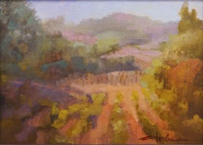 oil painting of martora_winery in Healdsburg, CA