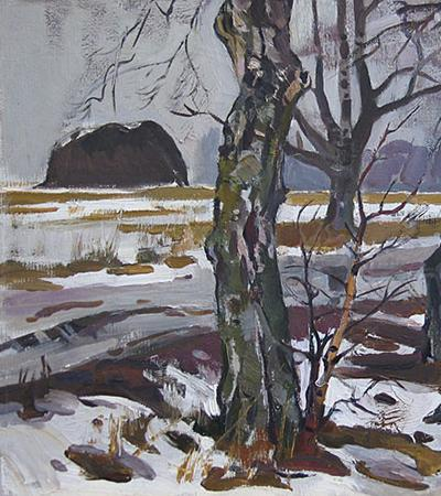 Path in the Old Ladoga. 1971 Oil on canvas, 40 x 60 cm