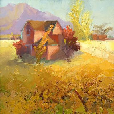 landscape painting by Cathy Locke