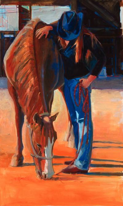 """""""Red Lariat"""" by Kathleen Lack"""