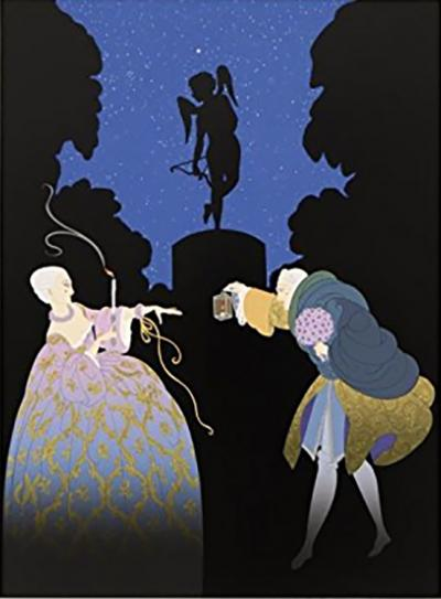 Erte, Rendezvous Limited Edition Print for sale
