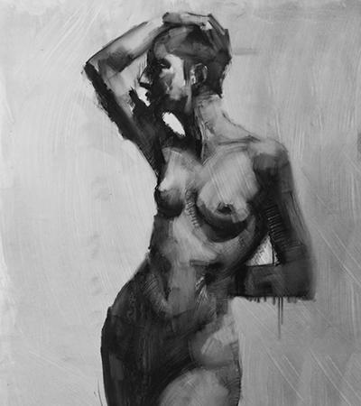 figurative drawing by Cathy Locke